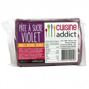 Pâte à Sucre Violet 250g Cuisineaddict