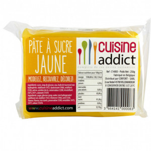 Pâte à Sucre Jaune 250g Cuisineaddict
