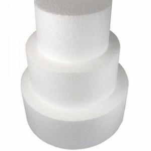 Support polystyrène rond H10 cm Ø 30 cm