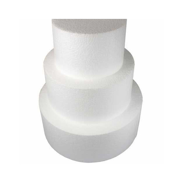 Support polystyrene rond H 10 cm. Ø 30 cm