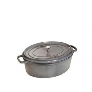 STAUB Cocotte Fonte Ovale 15 cm Gris Graphite 0,6 L