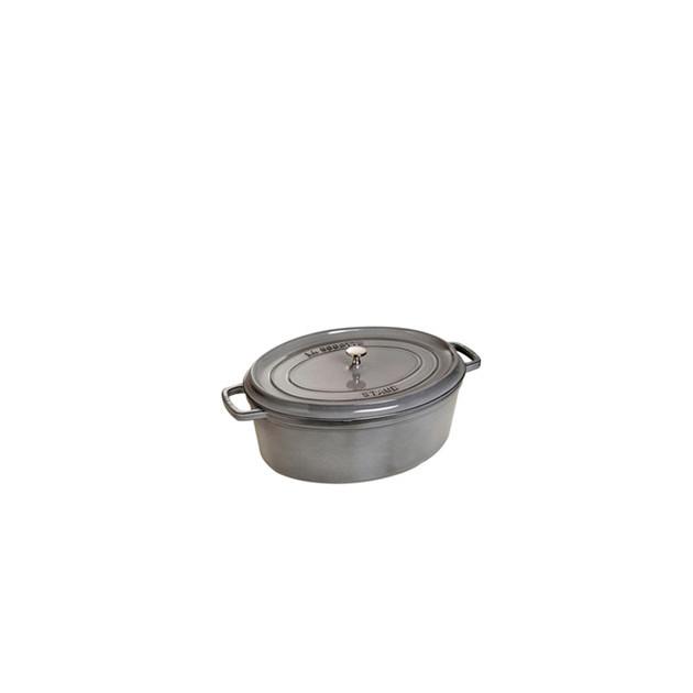 STAUB Cocotte Fonte Ovale 15 cm Gris Graphite 0.6 L