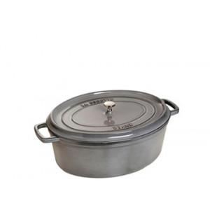 STAUB Cocotte Fonte Ovale 17 cm Gris Graphite 1 L