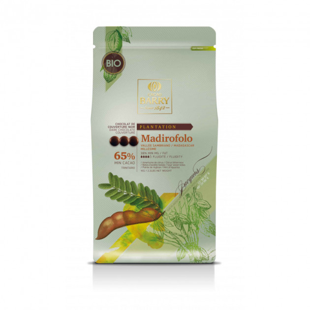 Chocolat Bio Noir Barry 65% 1 kg