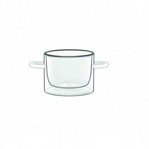Casserole En Verre Double Paroi 12 cl (x2) Luigi Bormioli THERMIC GLASS
