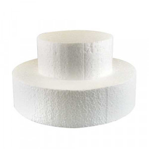Support polystyrène rond H 7 cm Ø 12,5 cm