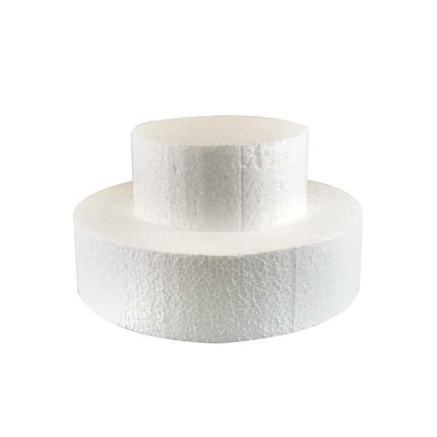 Support polystyrene rond H 7 cm. Ø 12.5 cm
