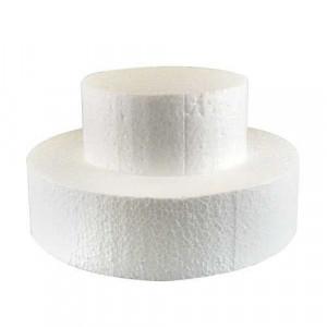 Support polystyrène rond H 7 cm Ø 20 cm