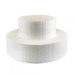 Support polystyrène rond H 7 cm Ø 30 cm
