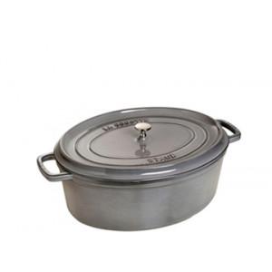 STAUB Cocotte Fonte Ovale 23 cm Gris Graphite 2,35 L