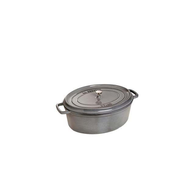 STAUB Cocotte Fonte Ovale 23 cm Gris Graphite 2.35 L