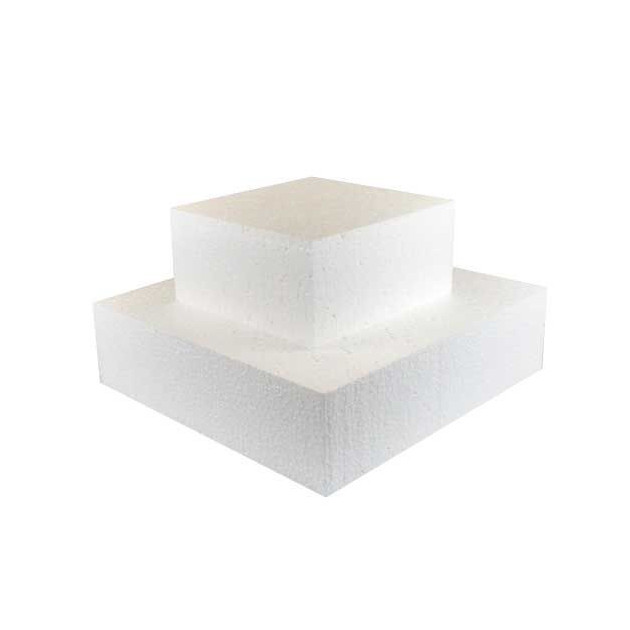 Support polystyrene carre H 10 cm. 25 x 25 cm