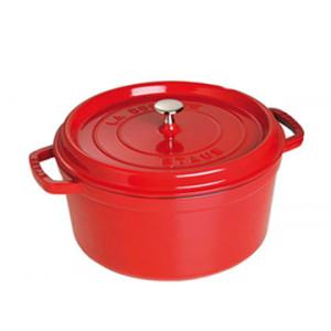 STAUB Cocotte Fonte Ronde 22 cm Rouge Cerise 2,6 L