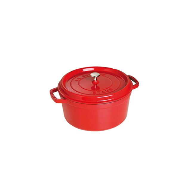 STAUB Cocotte Fonte Ronde 22 cm Rouge Cerise 2.6 L