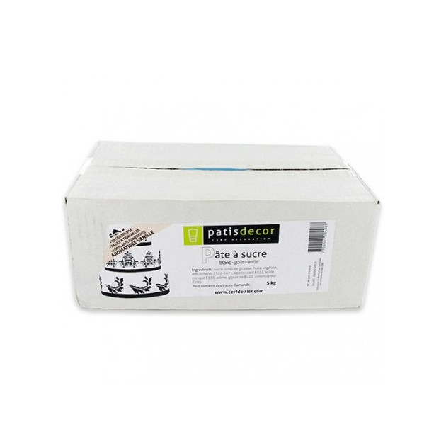 Pate a sucre Blanche arome Vanille 5 kg Patisdecor