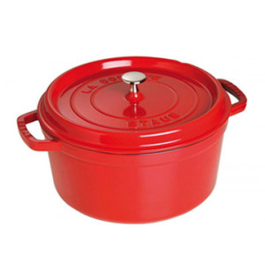 STAUB Cocotte Fonte Ronde 26 cm Rouge Cerise 5,2 L