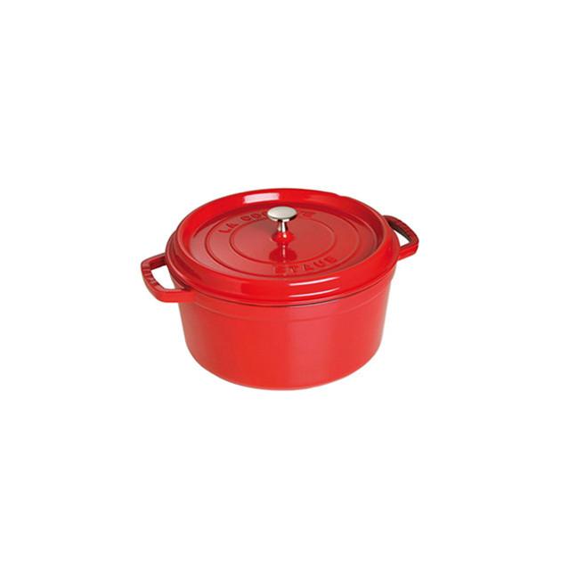 STAUB Cocotte Fonte Ronde 26 cm Rouge Cerise 5.2 L