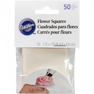Papiers Carrés pour Fleurs 4.4x4.4 cm (x50) Wilton