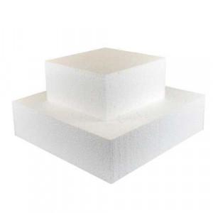 Support polystyrène carré H 7 cm - 25 x 25 cm