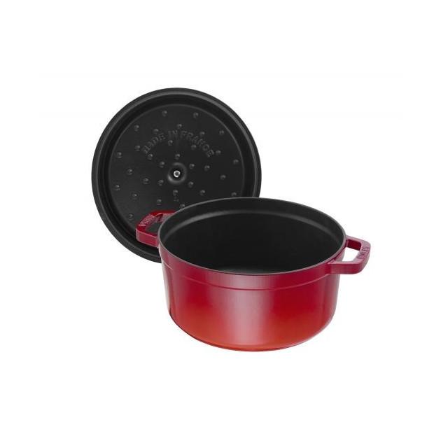 Cocotte et Couvercle Staub en fonte 5.2 L Rouge