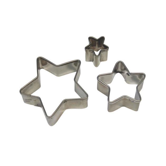 Emporte Piece Etoile en inox (x3)