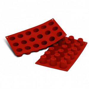 Moule Silicone 18 Cannelés 3,5 cm x H 3,5 cm Silikomart