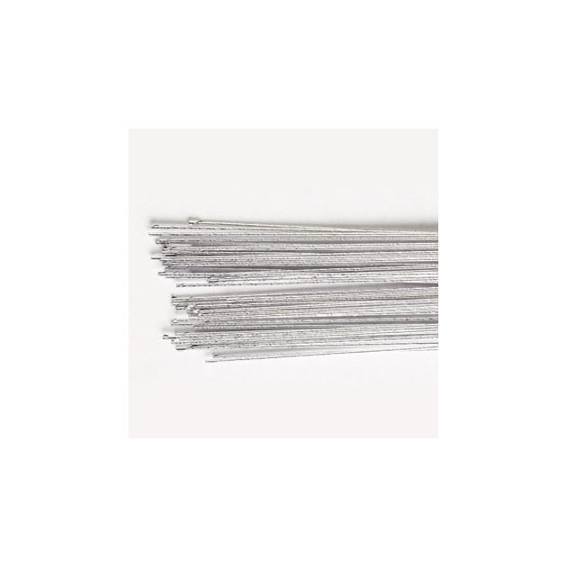 Fil Floral Argent 24 gauges (x50) Culpitt