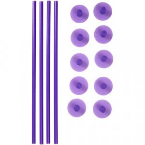 Tiges pour Pièce Montée (x4) et Capuchons (x10) Wilton