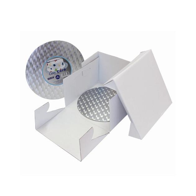 Boîte a Gateau 35x35x15 cm avec support PME