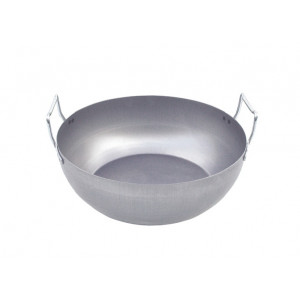 Bassine à Friture bombée en tôle 28 cm De Buyer