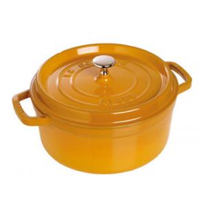 STAUB Cocotte Fonte Ronde 26 cm Jaune Moutarde 5,2 L