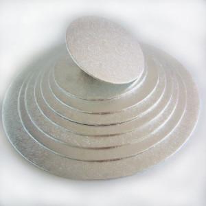 Support Gâteau Rond H.4 mm Ø17.5 cm Argenté