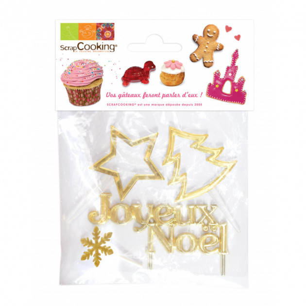 Decoration de bûche de Noel x 4 ScrapCooking