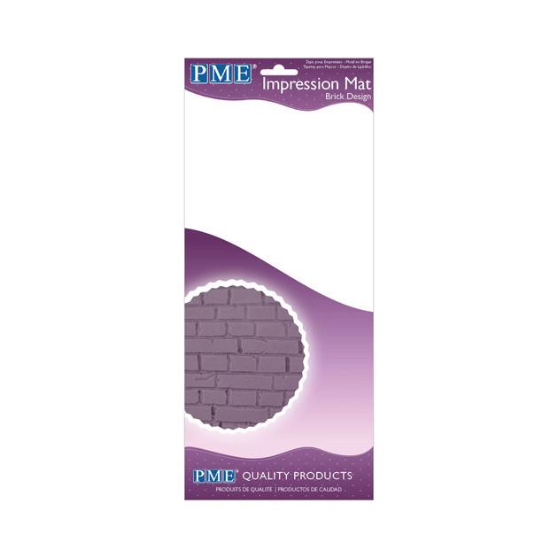 Tapis Silicone Impression Brique 15x30.5 cm