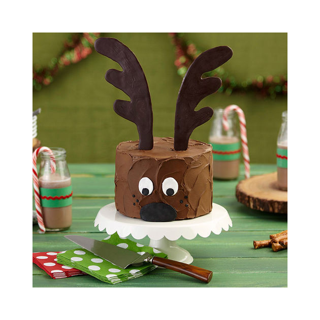 Gateau renne de Noel decor Candy Melts
