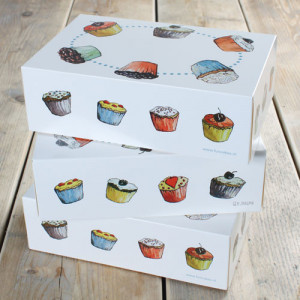 Boîte à Gâteau avec insert 24x16x8 cm (x3)