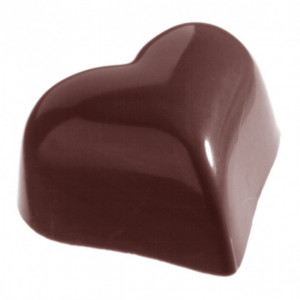 Moule Chocolat Bonbon Coeur 3.1 cm (x28) Chocolate World