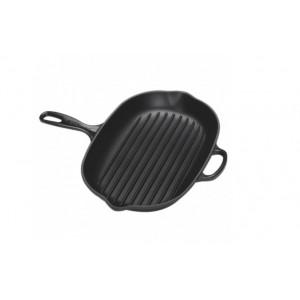 Skillet Grill Fonte Ovale Noir 32 cm Le Creuset