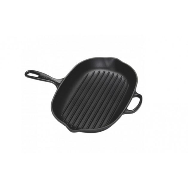 Skillet Grill Poele Ovale Noir 32 cm Le Creuset