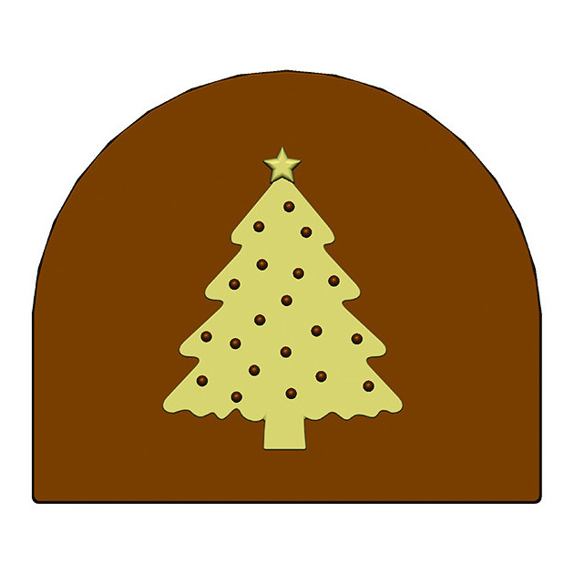 Moule Embout de bûche Sapin de Noel 80 x 68 mm Mallard Ferriere