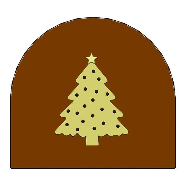 Moule Embout de bûche Sapin de Noel 78 x 85 mm Mallard Ferriere