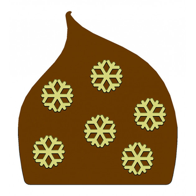 Moule Embout de bûche Flocons de Neige 80 x 87 mm Mallard Ferriere