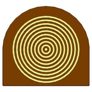 Moule Embout de bûche Cercles 78 x 85 mm Mallard Ferrière
