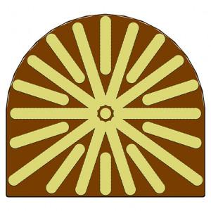 Moule Embout de bûche Soleil 78 x 85 mm Mallard Ferrière