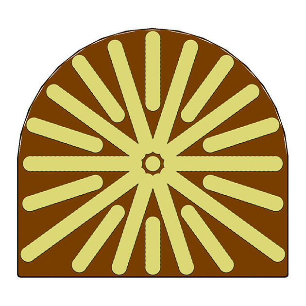 Moule Embout de bûche Soleil 78 x 85 mm Mallard Ferriere