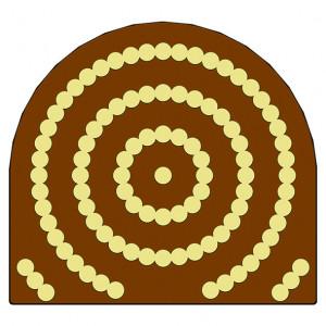 Moule Embout de bûche Perles 78 x 85 mm Mallard Ferrière
