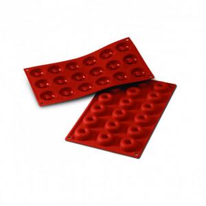 Moule Silicone 18 Savarins 4,1 cm x H 1,2 cm Silikomart