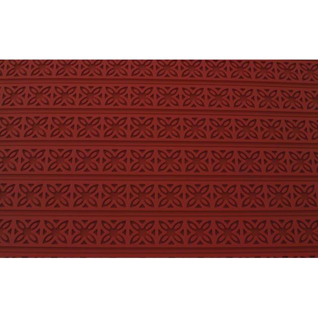 Tapis Relief silicone Fleurs carrees 30 mm - Tapis de cuisson 560 x 390 mm