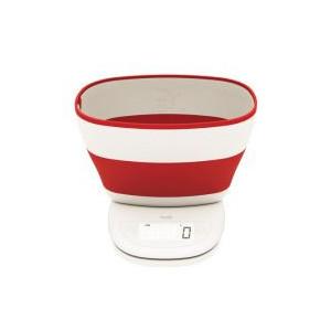 Balance de cuisine avec bol Rouge Aubecq