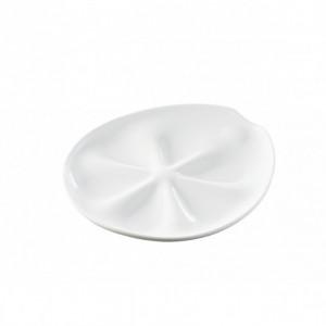 Assiette a Huitres Blanche 26 x 24 cm Impulse Revol